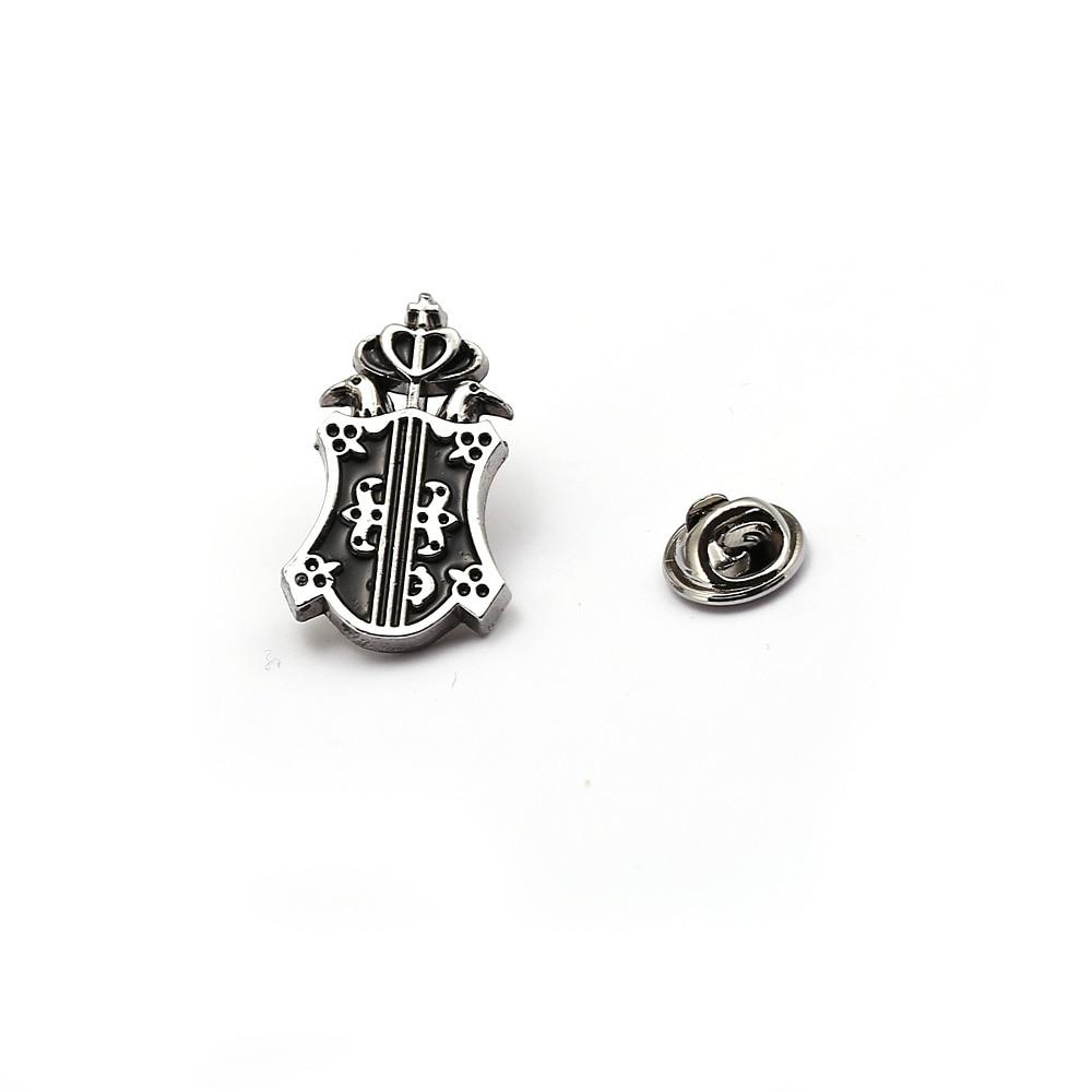 HSIC nuevo Black Butler broche de plata antigua maestro Charles Pin broches Cosplay accesorios regalos mujeres hombres joyería HC13120
