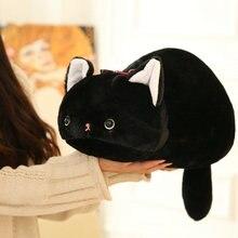 Peluche chat noir jouet dessin animé mignon japonais san-x anime figure kutsushita nyanko jouets en peluche chat oreiller jouet pour enfants