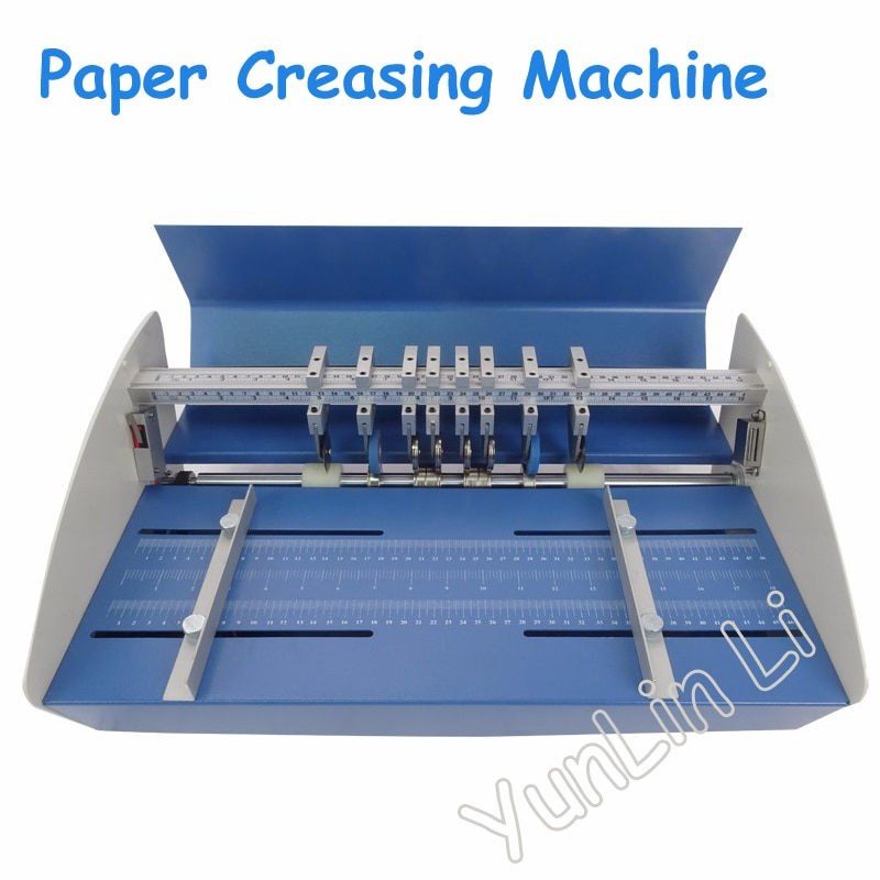 18 Inch Paper Creasing Machine 460mm Electric Paper Creaser Scorer Perforator 3 in 1 Combo Paper Perforating Machine YH-460e enlarge