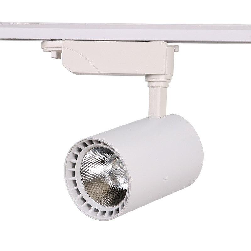 COB Светодиодная лампа для треков 12 Вт 30 Вт 20 Вт осветительные приборы для треков точечные прожекторы потолочные светильники 220 В для магазина одежды