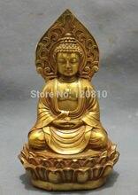 Tibet Bronze Buddhist Beten Segnen Shakyamuni Buddha shakyamuni Statue Bowl