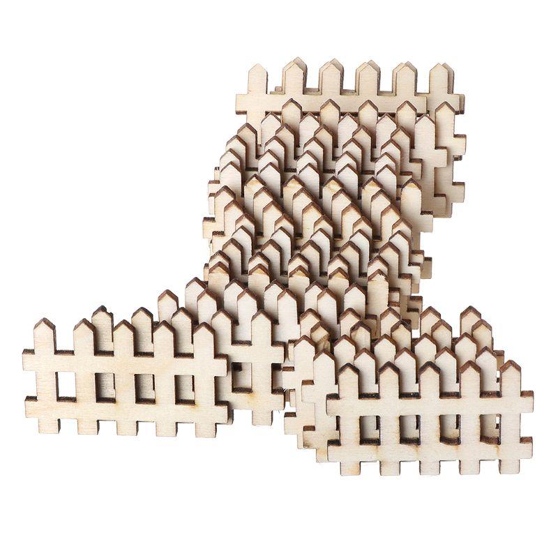 25 шт лазерная резка деревянный забор украшение деревянная форма ремесло Свадебный декор