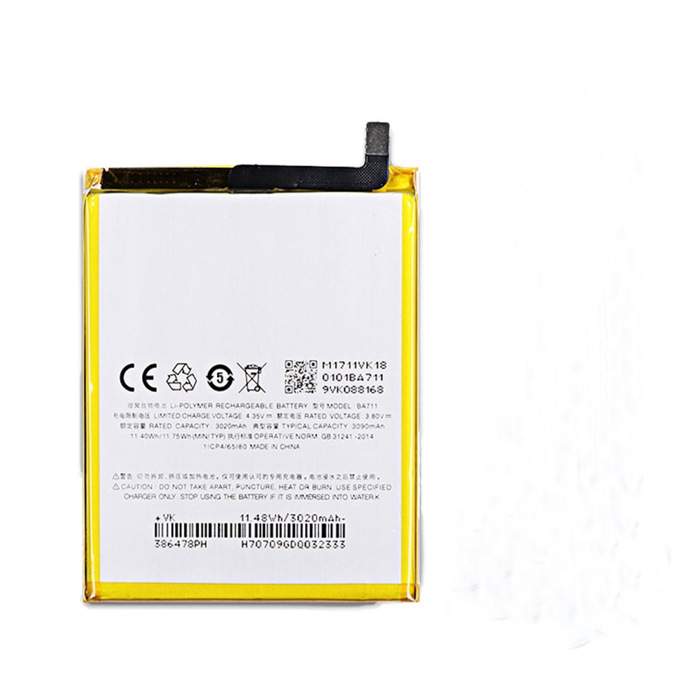 10 pcs lote ba711 bateria 3020mah meilan formeizu 6 ba711 batterie bateria do acumulador