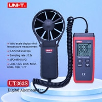 UNI-T UT363S Mini Anemometer Wind Speed Meter LCD Display Air Flow Speed MAX/AVG Measurement Wind Level 1~12