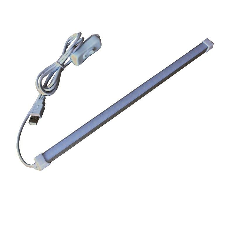 DC5V 35cm super brillante USB luces Bar 5W camping al aire libre/senderismo emergencia led luces Blanco/cálido con interruptor de encendido/apagado
