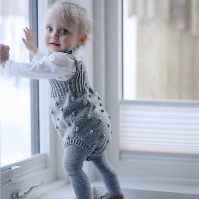 2018 Baby Bodysuit Infant Jumpsuit Overall Sleeveless Baby Boys Clothing Autumn Knitted Girls Bodysu