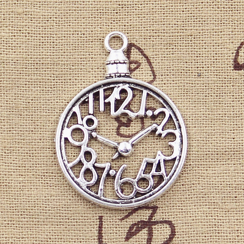 3pcs Charms Pocket Watch 39x29mm Antique Making Pendant fit,Vintage Tibetan Silver color,DIY Handmade Jewelry