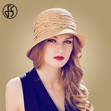FS pliable chapeau de soleil à large bord chapeau femmes été plage dames chapeaux de paille mode visière casquettes Sombrero Playa Mujer