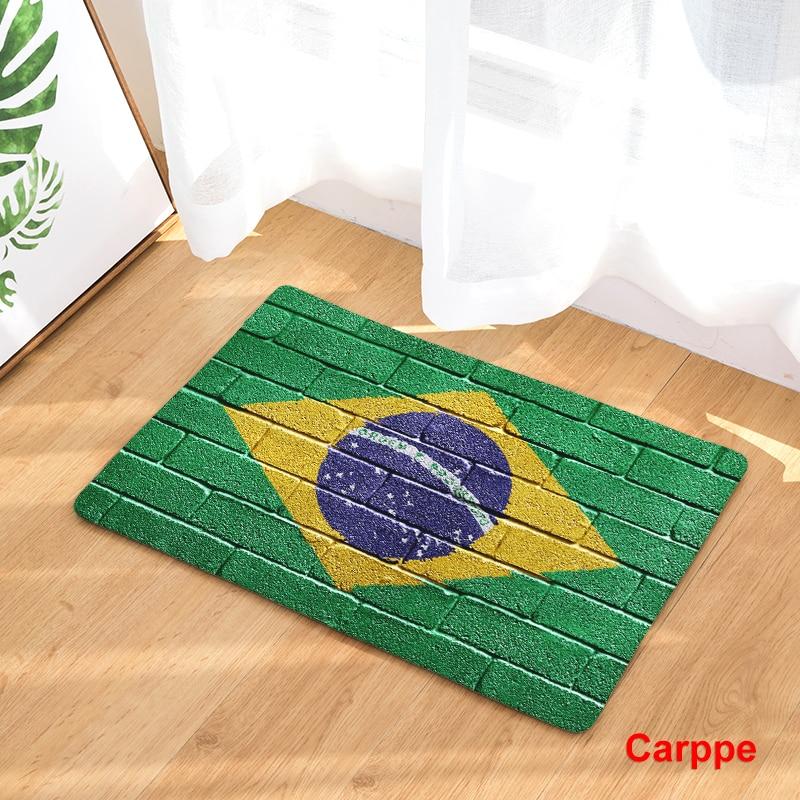 Hot Welcome Mat Flag World Map Doormats Bathroom Kitchen Carpet Home Floor Mats Living Room Anti-Slip Rug 40X60 50X80cm