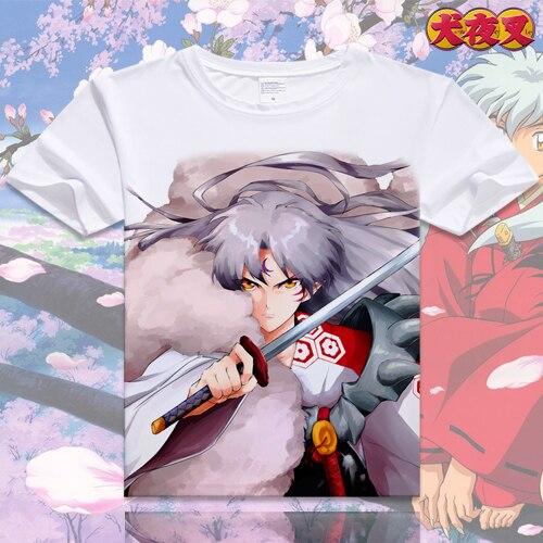 Inuyasha camiseta de Anime Sesshoumaru Camiseta de manga corta Moneca Stori camiseta transpirable moda hombres mujeres Top Tees