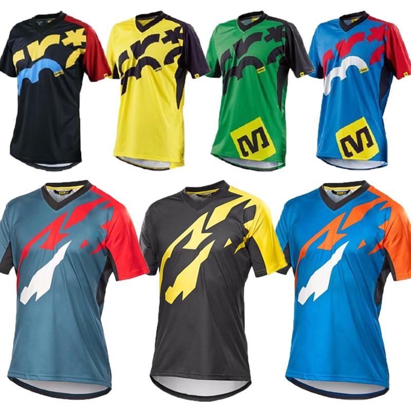 Hombres y mujeres de manga corta MTB Jersey para descensos de bicicleta de montaña Maillot ciclismo desgaste DH MX camisas Moto Motocross motocicleta camisetas