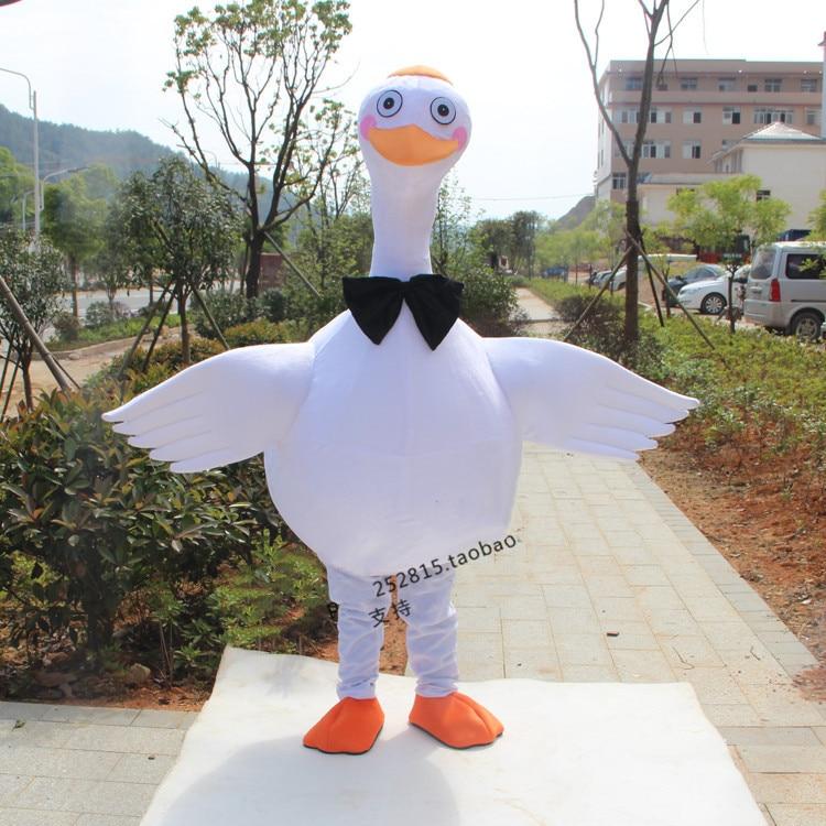 Nuevo de ganso mascota traje blanco pájaro, mascota traje personaje adulto Cosplay ceremonia trajes de Halloween vestido de carnaval