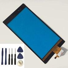 Sony Xperia Z Ultra için XL39h XL39 dokunmatik ekran cam sayısallaştırıcı sensörü Touchpad değiştirme + ücretsiz araçlar