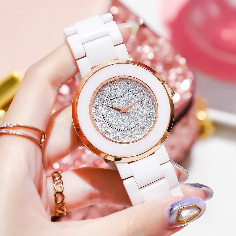 Relojes de lujo de marca superior para mujer, reloj de cerámica a la moda para mujer, reloj elegante de cuarzo, reloj para mujer, reloj Dropshipping