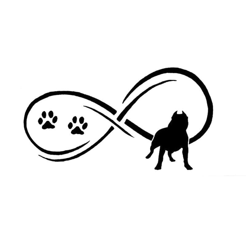 17.8*9.7 cm pit bull cão animal pata imprime adesivos de carro bonito decalque vinil estilo do carro acessórios da motocicleta preto/prata S1-0752