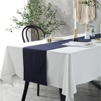 cfen as nordic simple style cotton tablecloth solid white quality table cover tea table cloth kitchen dining place mats 1pc