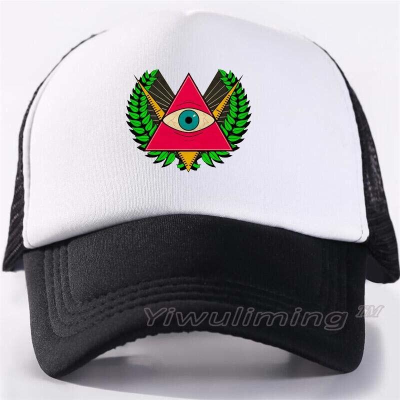Nuevas gorras de camionero de verano para adultos, geniales gorras negras de malla de béisbol ajustables para hombre