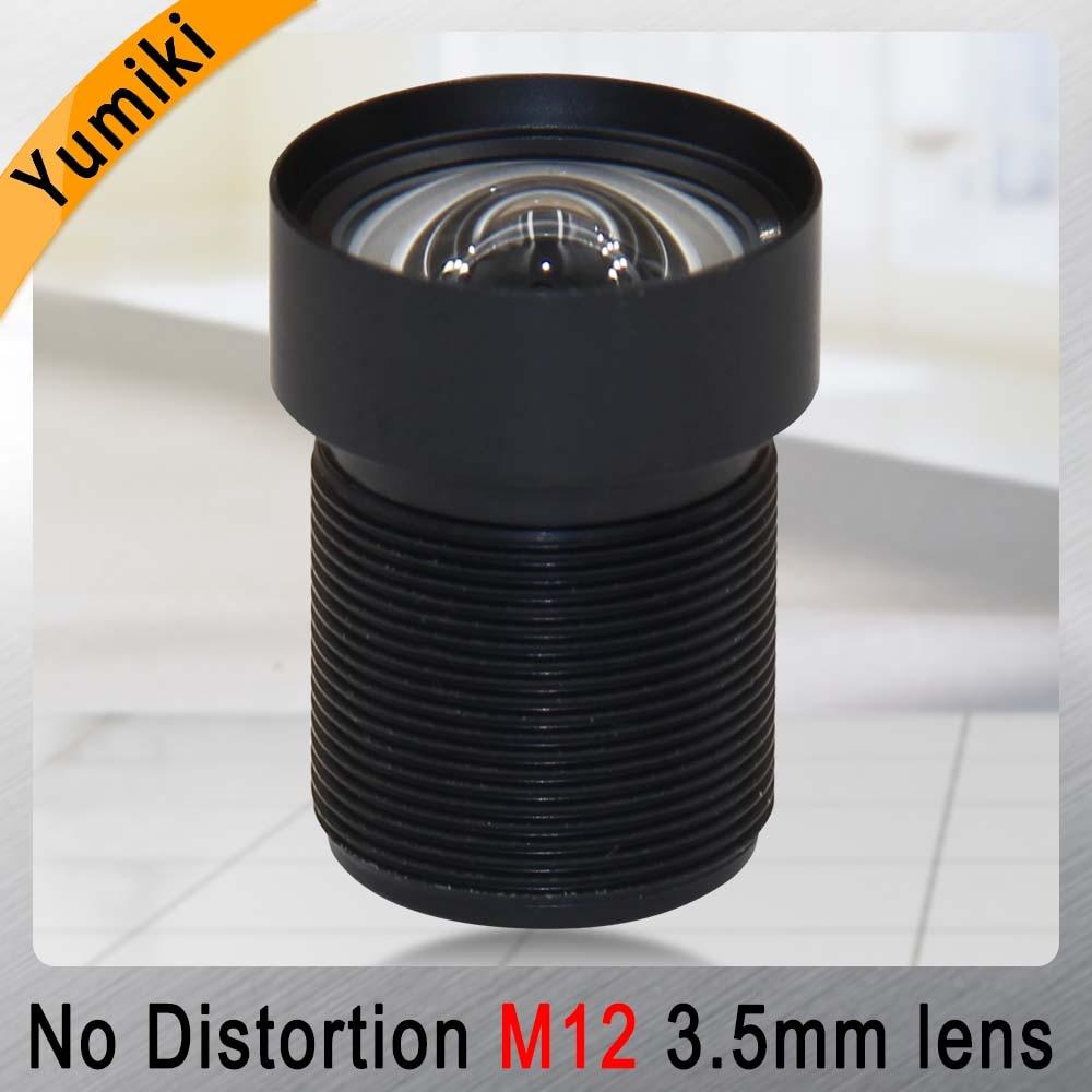Lente M12 Yumiki 3,5mm 1/2, 5 pulgadas 5MP IR F1/2,8 enfoque sin distorsión para cámara cctv