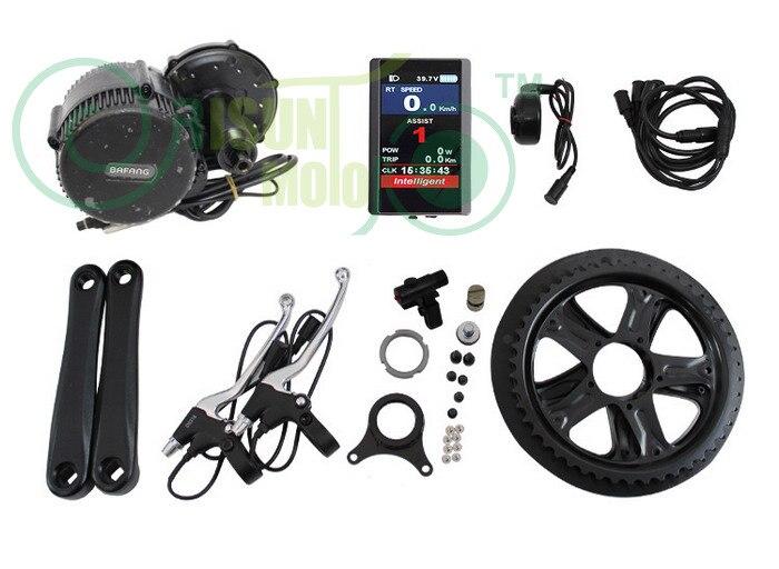 UE DUTY FREE BBS01 36 v 350 w 8fun Bafang Bicicleta Elétrica Meados de Carro Kit de Motor de Manivela Ebike mediados de kits de coche 850C Display LCD
