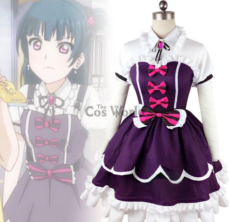 ¡LoveLive! sol! Aqours Tsushima Yoshiko ángel caído vestido uniforme traje Anime Cosplay disfraces
