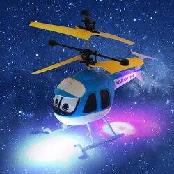 Voando indução Dos Desenhos Animados Brinquedos DO Helicóptero Do RC Mini Controle Remoto Zangão Avião Flutuante de Aeronaves para o Miúdo Menino Brinquedos Chritmas Presente