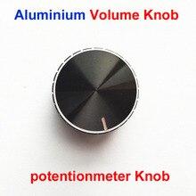 Hot Black Aluminium Lautstärkeregler Verstärker Knopf Rad