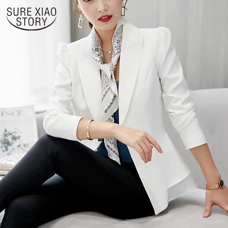 Vadim2019 chaqueta de manga larga Mujer moda elegante negro Delgado oficina trabajo prendas de vestir Mujer jackact chaquetas y abrigos para mujer 1345 90