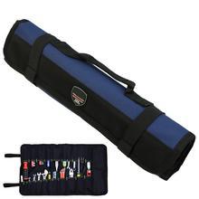 Trousse à outils à clé, pince à rouleau, tournevis, mallette de transport sac à outils 22 poches 3 couleurs