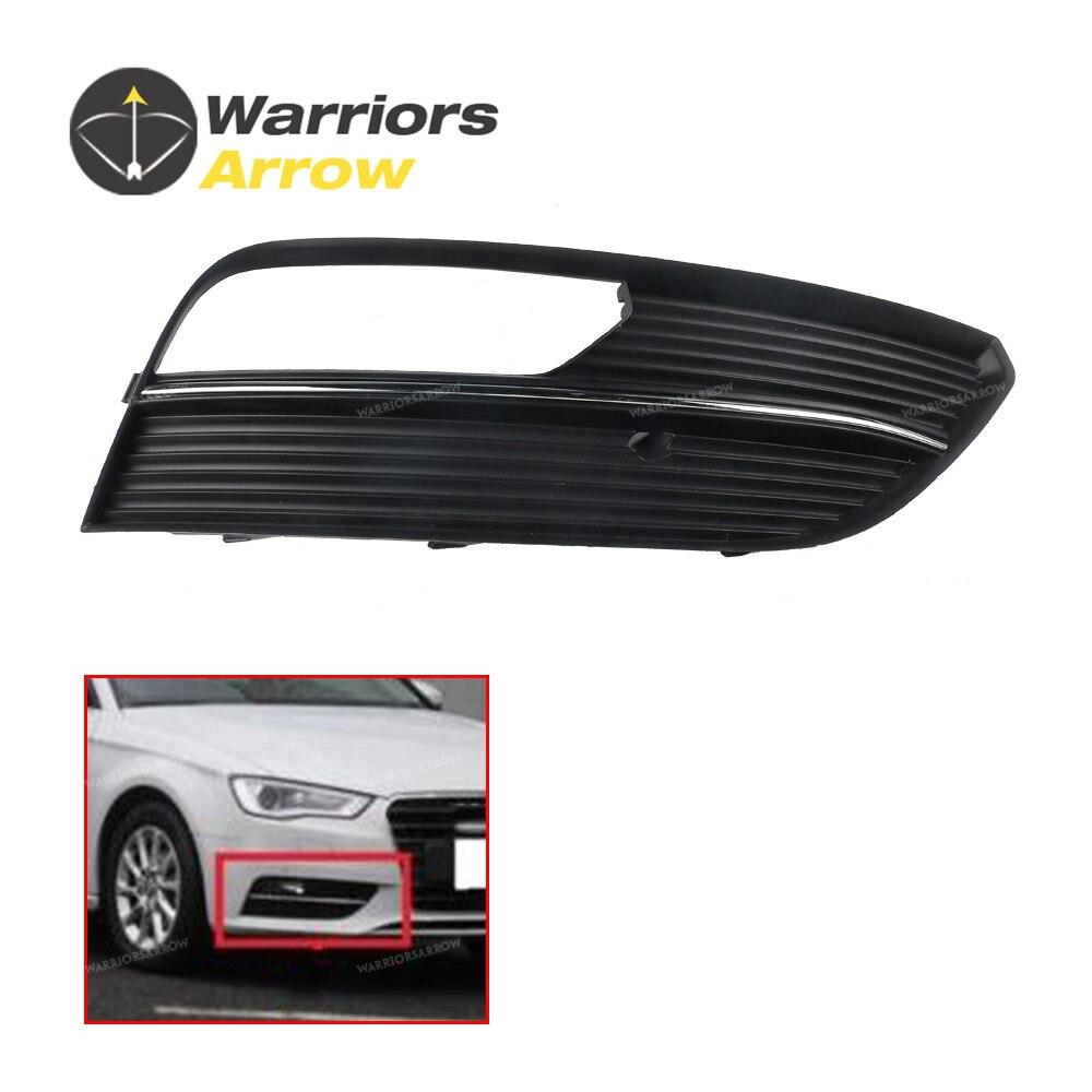8V3807682A para Audi A3 S3 Sportb. Lim. qu HATCHBACK 2013 2014 2015 2016, Luz antiniebla cromada derecha, lámpara, rejilla de ventilador parrilla