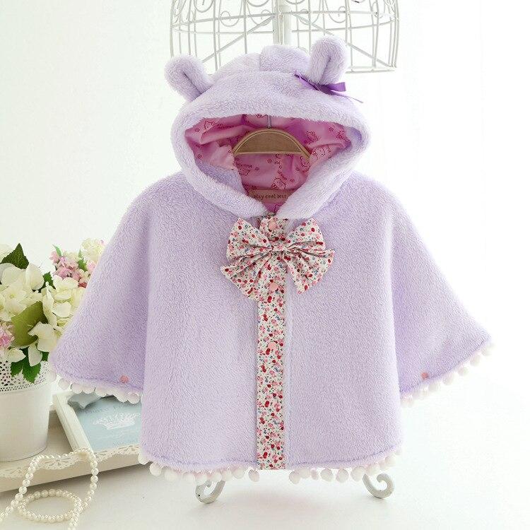 2015 coral polar bebé capa Otoño e Invierno capa espesante ropa infantil recién nacido bebé niña abrigo