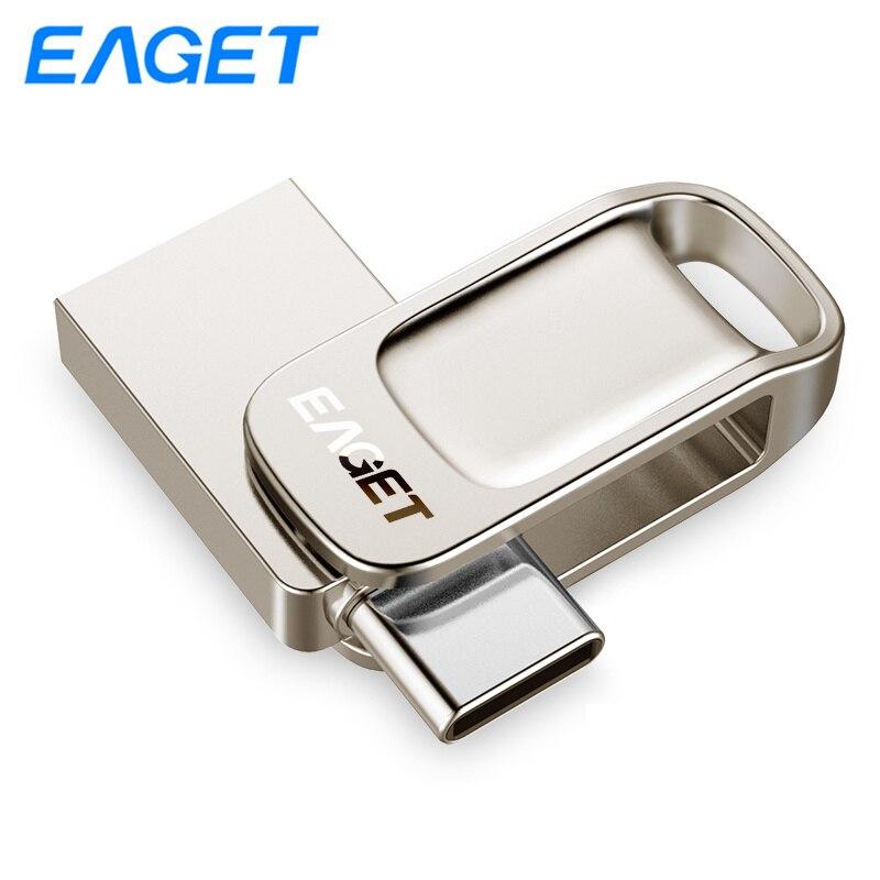 Mayor OTG Pen Drive 32gb 64gb UDP USB 3,0 Flash Drive 128gb Mini pendrives metálicos memoria Flash USB tipo-C teléfonos PC