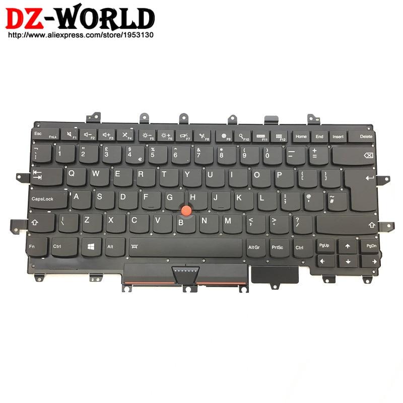Новый оригинал для Lenovo Thinkpad X1 Carbon 4th Gen 4 MT: 20FB 20FC английская клавиатура с подсветкой Teclado 00PA727 SN20K74775