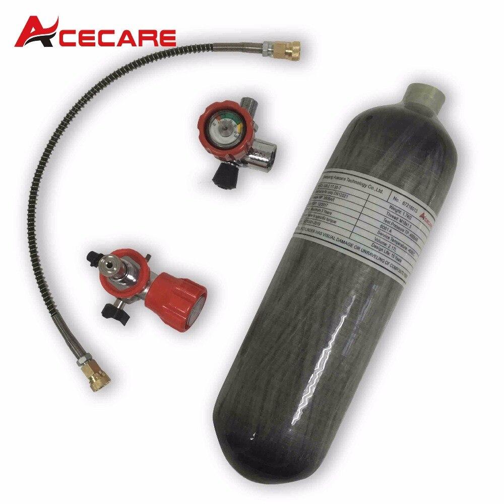 خزان غوص, خزان سكوبا من ألياف الكربون AC1217101 2.17L CE 30Mpa خزان ألوان مصنوع من ألياف الكربون