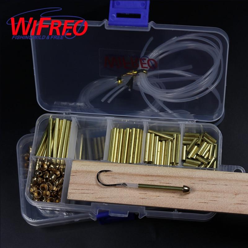 Комбинированная система завязывания летучей мыши Wifreo, латунная трубка 3 мм + конусы + линейная трубка + соединительная трубка из лососевой ст...