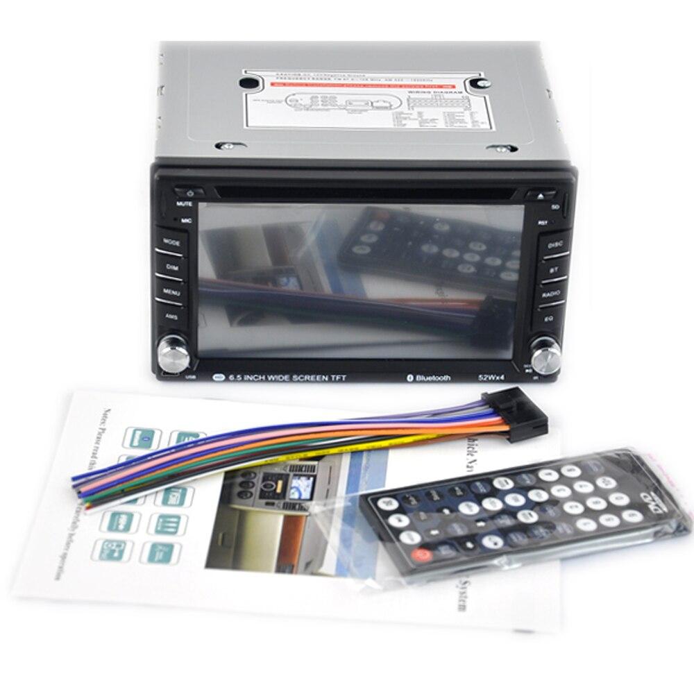 "Radio de coche de 7 ""2 Din para almacén en el extranjero, control remoto estéreo con pantalla táctil, reproductor USB/SD/AUX DVD/CD, Bluetooth rápido manos libres"