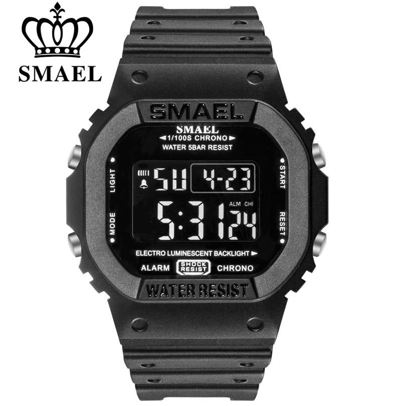 Часы SMAEL мужские, спортивсветодиодный, армейские, камуфляжные, водонепроницаемые