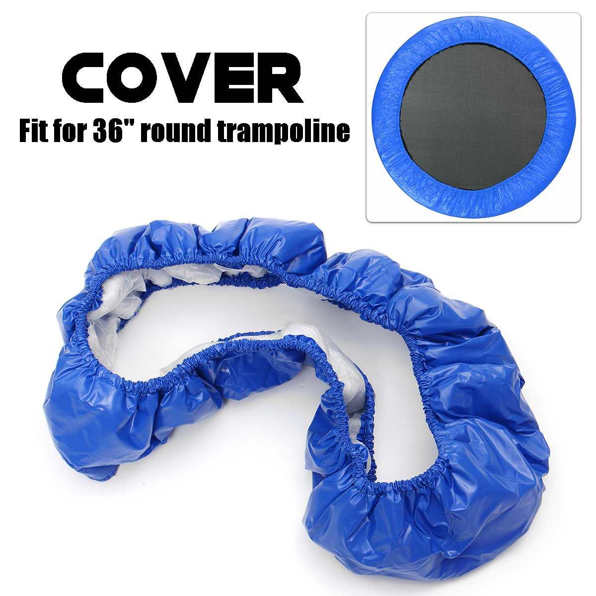 """Reemplazo grueso 3 capas cubierta impermeable para 36 """"Almohadilla de trampolín de resorte redondo Material de PVC ambiental absorbente de golpes"""