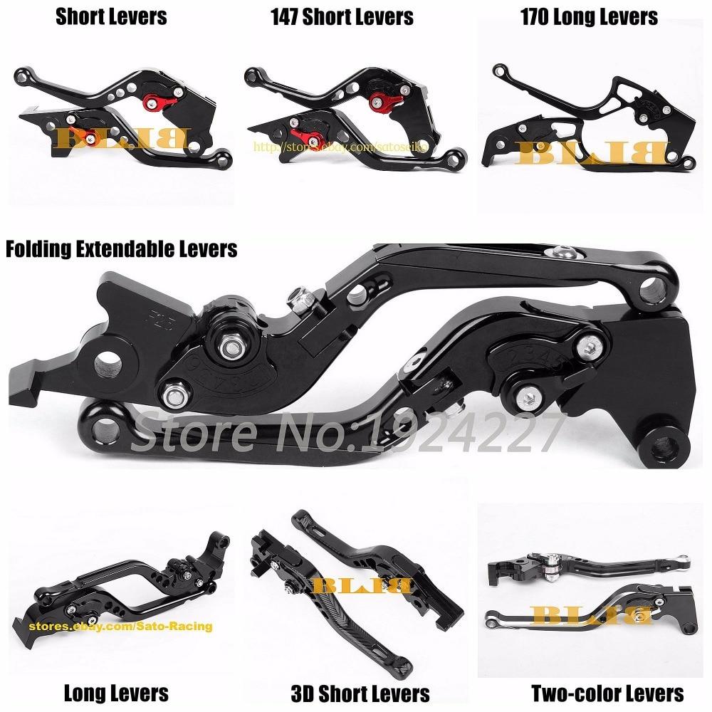 Palancas de freno de embrague para motocicleta de 7 estilos diferentes para Honda VFR1200F VFR1200 VFR 1200 F 1200F CB1300 ABS X4 CB1100 CBF1000 A CNC