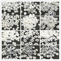 50pcspack u pick size sewing clothes white buttons plastic scrapbooking round two holes botones bottoni botoes