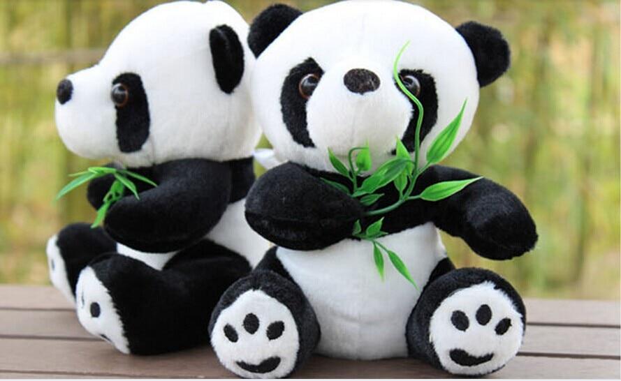 20cm panda plush toys ,one set / 20 pieces panda toys hugged bamboo ,draw prizes, children's Christmas gift,t8778