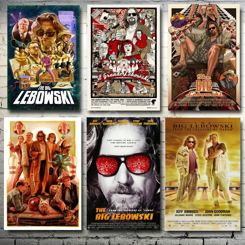 "MX015 The Big Lebowski 1998 American Jeff Bridges Classic Movie Film A4 A3 A2"" Poster Art Silk Canvas Home Room Wall Print Decor"