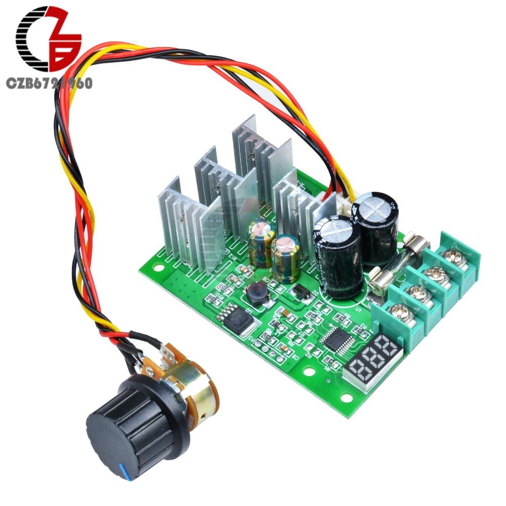 Цифровой регулятор скорости двигателя постоянного тока 6-60 в 30 А, регулируемый светодиодный ШИМ контроллер скорости двигателя постоянного тока, регулятор скорости двигателя 12 В 24 в 36 В