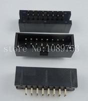 100pcs IDC Box header DC3 DC3-16P 2x8 16 pins 16P 2.54mm Pitch
