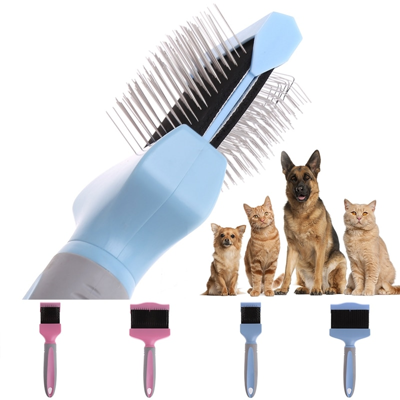 Dog Puppy Cat Pet Hair Shedding Grooming Trimmer Comb Brush Slicker Rake Tool