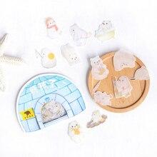 45 teile/los Kawaii polar bär Cartoon Papier Aufkleber Dekoration DIY Scrapbooking Aufkleber Schreibwaren nette label aufkleber