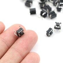 Le Kit de commutateur de bouton poussoir Tactile de commutateur de Tact de 50pcs place le Micro commutateur 4.5*4.5*6mm dimmersion 4P