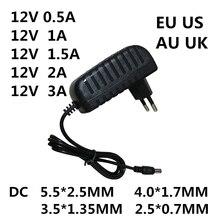 Convertisseur électrique 100-240V cc 12 V 0,5a 0,8a 0,8a 1A 1.5A 2A 3A   1 pièce, convertisseur adaptateur électrique chargeur 12 V Volt pour bandes V EVD