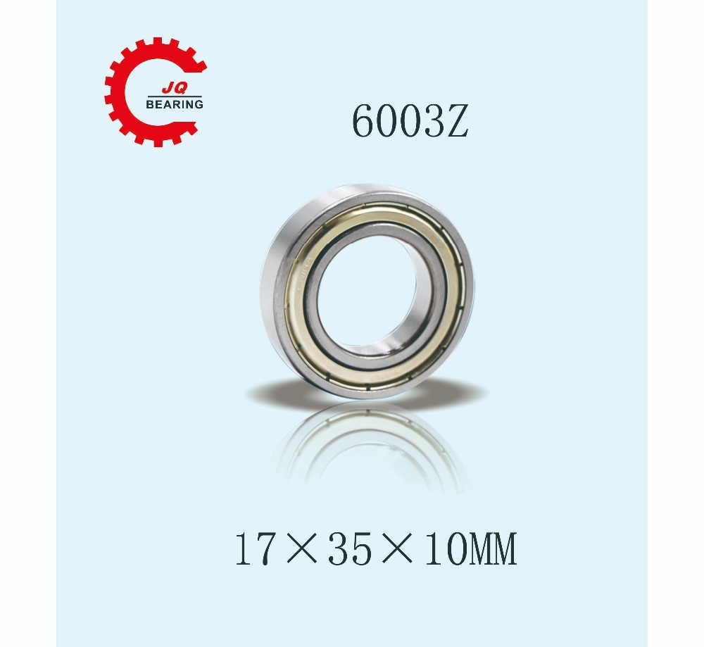 JQ Rolamentos 17mm * mm * mm 10 35 Metal Selado Deep Groove Ball Bearing 6003Z 6003-2Z Free Shopping