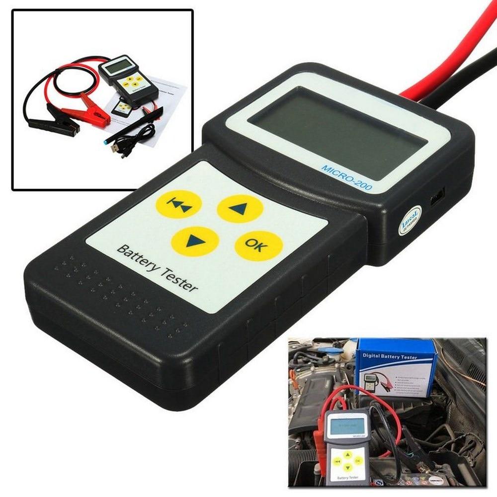 Micro 200 12 v testador de bateria carro CCA100-2000 ferramenta de diagnóstico do carro automotivo analisador sistema bateria usb para impressão