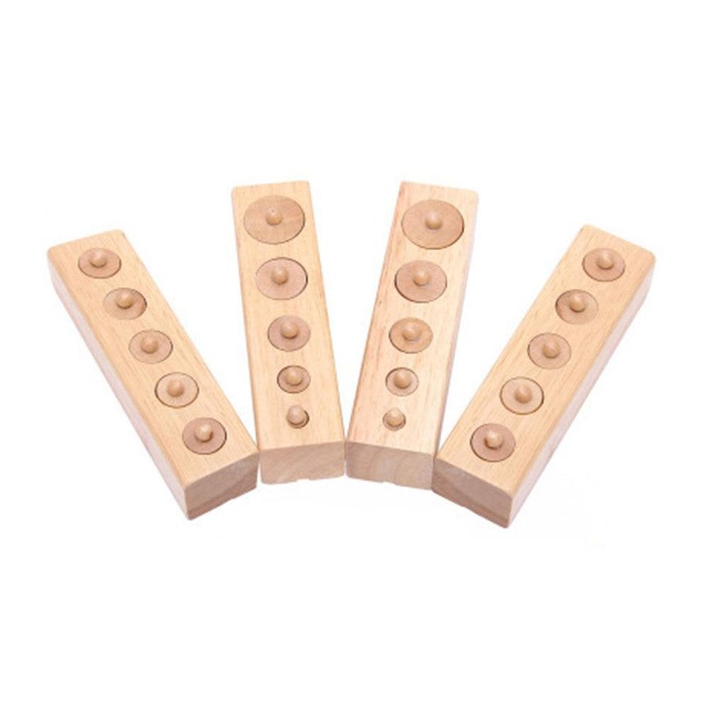Montessori brinquedo de madeira educacional soquete do cilindro